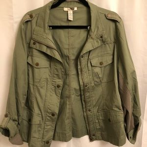 Style & Co olive green jacket